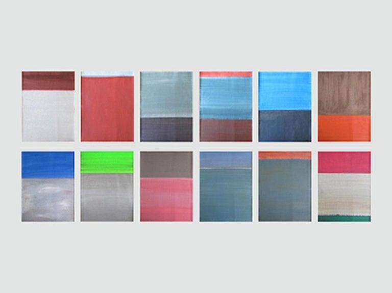 Daniel Göttin Abstract Drawing - Untitled 1-12 2017 (Abstract painting)