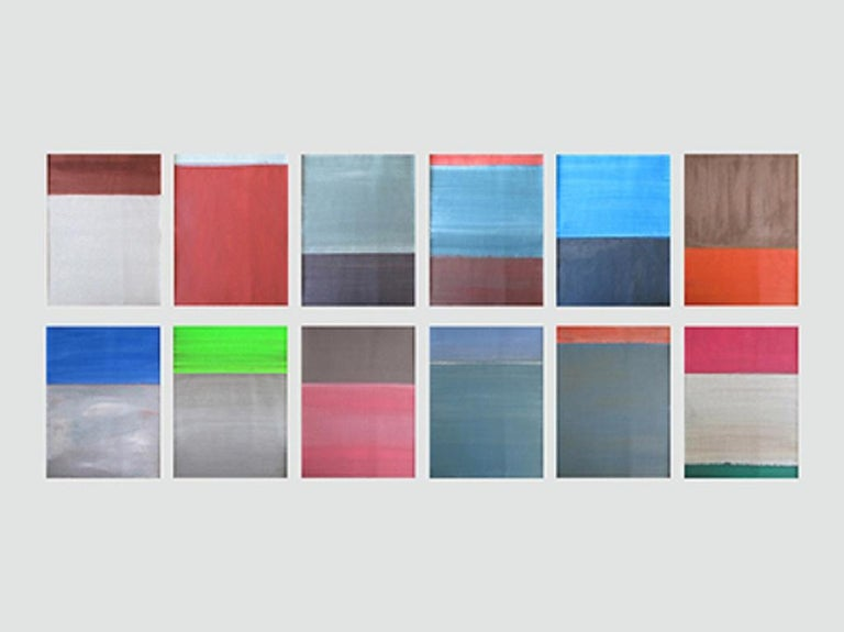 Daniel Göttin Abstract Painting - Untitled 1-12 2017