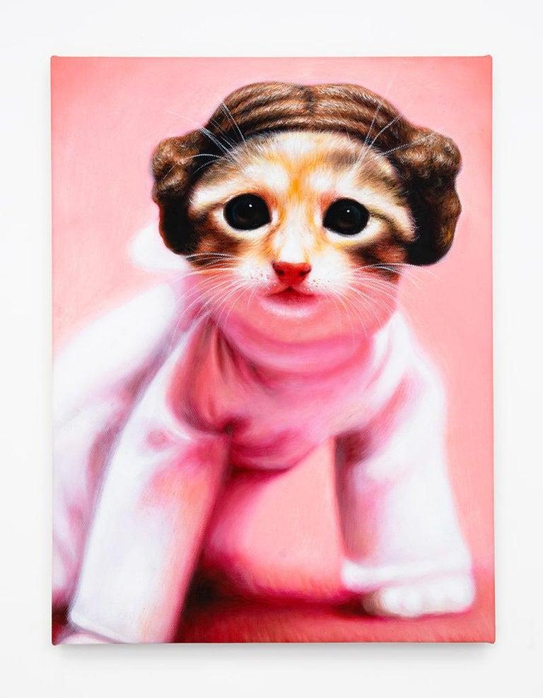Daniel Handal Animal Painting - Princess Leia Kitty (Cinnamon Tabby)