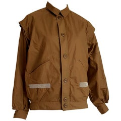 "Daniel HECHTER ""New"" Brown mustard Net on Pockets Cotton Jacket - Unworn"