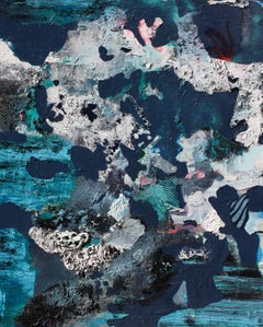 Coral  Large Textural Abstract Painting