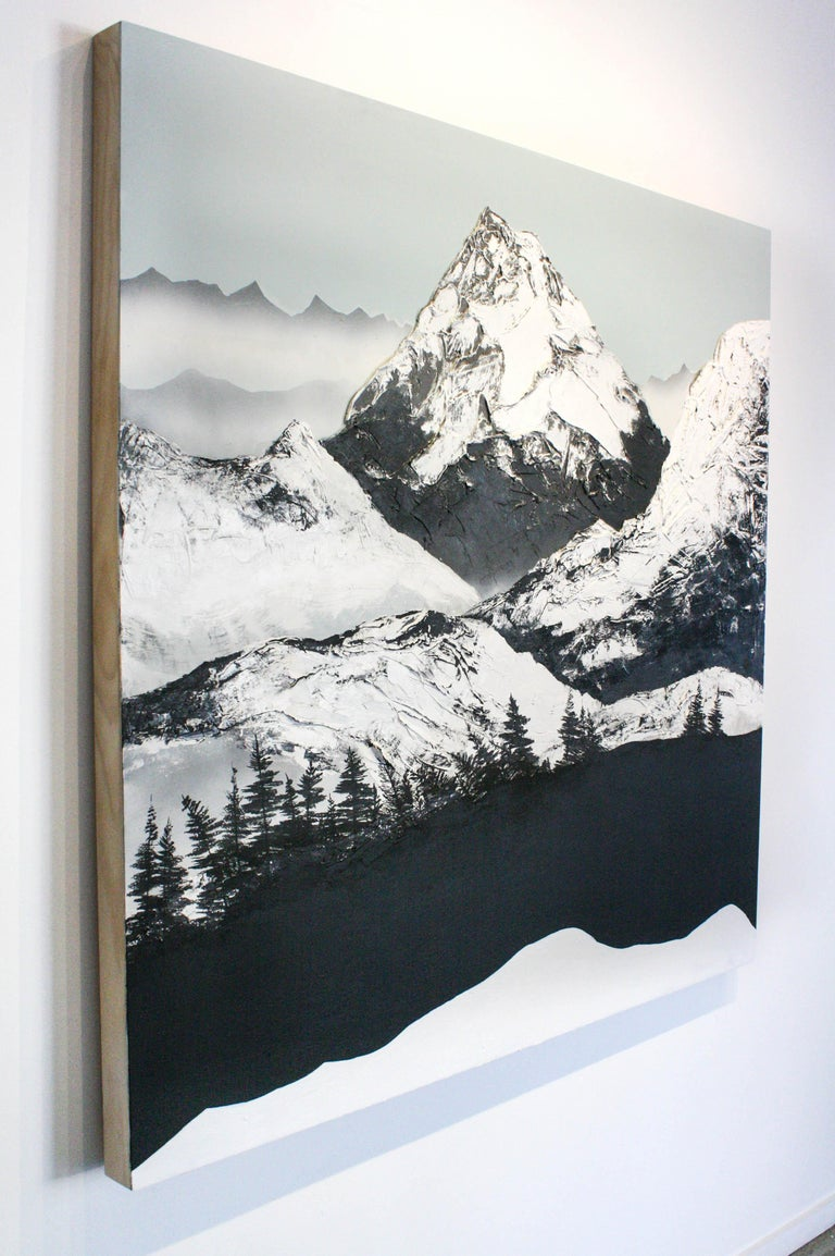 Dante's Peak - Gray Figurative Painting by Daniel Holland