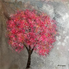 Blossom old church street original floral abstract  painting