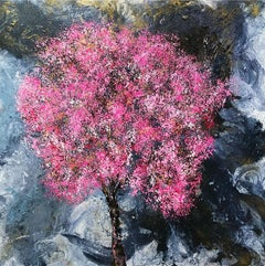 Blossom Storm original floral Contemporary abstract  painting
