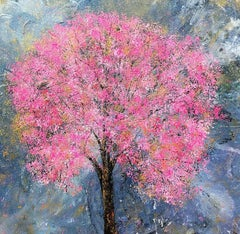 Blossom View original floral Contemporary abstract painting