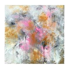 Lilies In The Mist original abstract Contemporary landscape painting