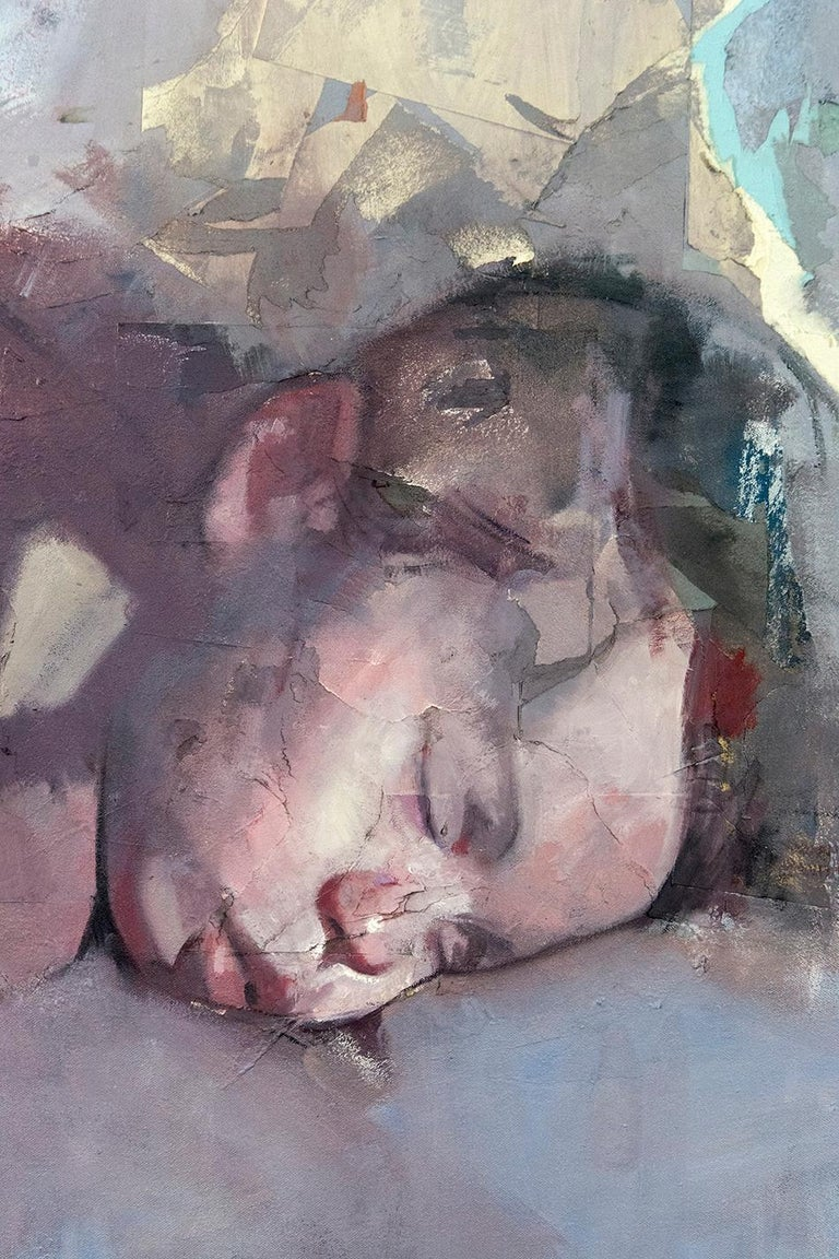 Baby Atticus - Contemporary Painting by Daniel Hughes