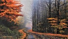 "Photorealist Still Life with Fall foliage, ""Morning Stillness"""