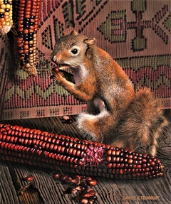 """Photorealist Still Life with Squirrel, """"The Bandit"""""""