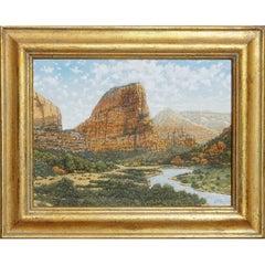 "Daniel Kendrick Oil Painting ""Zion Valley Utah"""