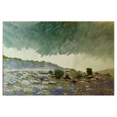 "Daniel Kendrick Texas Bluebonnets ""Take Cover"" Oil Painting"