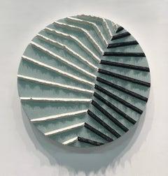 'Rhino Rib' original acrylic circular painting signed by Daniel Klewer