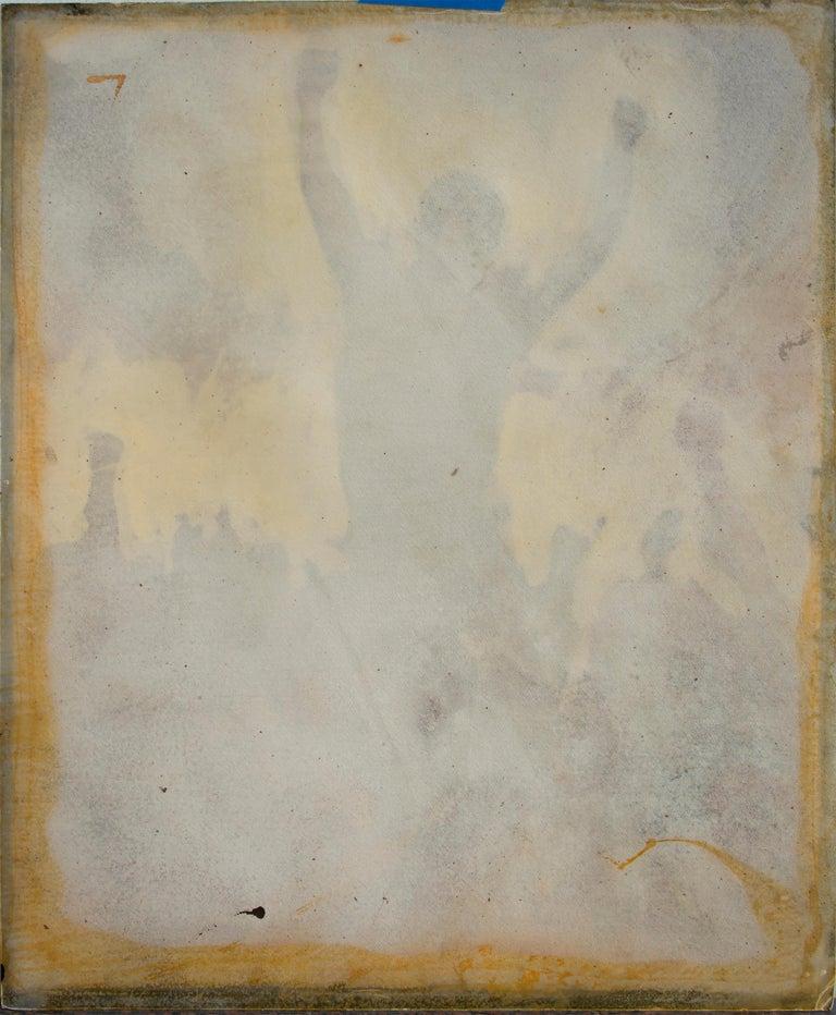 Protest Revolt and Uprising illustration - Brown Portrait Painting by Daniel Maffia