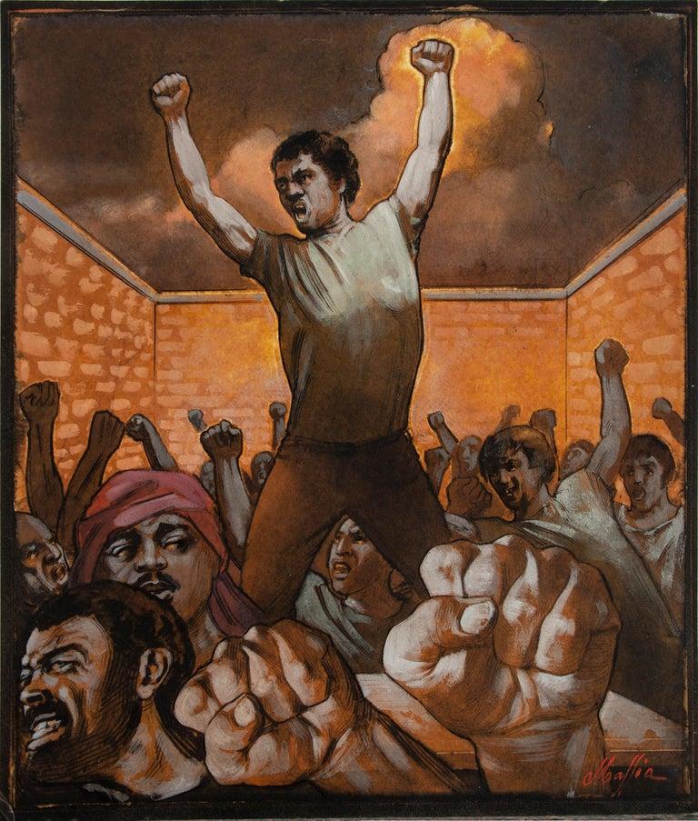 Daniel Maffia Portrait Painting - Protest Revolt and Uprising illustration