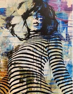Blue Stripe Girl