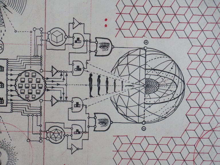 American Daniel Martin Diaz drawing Cybernetic Phanton For Sale