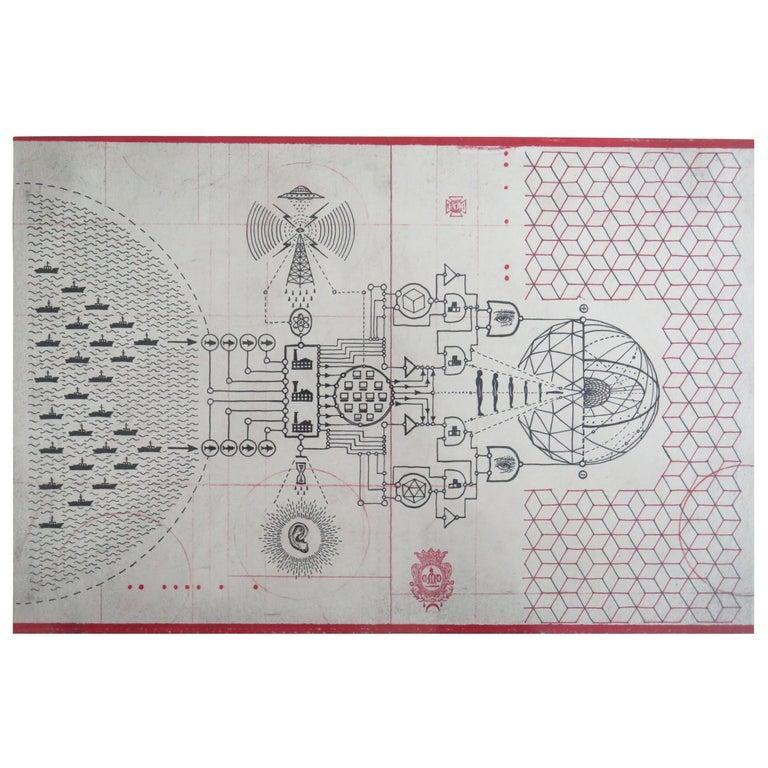 Daniel Martin Diaz drawing Cybernetic Phanton For Sale