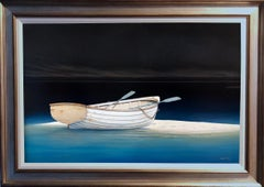 """""""Beached,"""" Contemporary Realist Marine Oil Painting"""