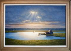 """Into the Light,"" Coastal Landscape Oil Painting"