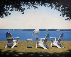 """Afternoon Seating,"" Limited Edition Giclee Print, 30"" x 40"""