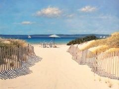 """Beach Along Dune Road,"" Limited Edition Giclee Print, 36"" x 48"""