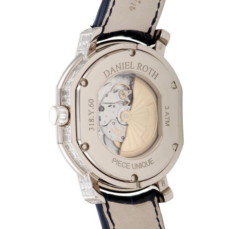 Mixed Cut Daniel Roth Piece Unique Watch For Sale