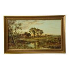 Daniel Sherrin Antique Countryside Landscape of Evening