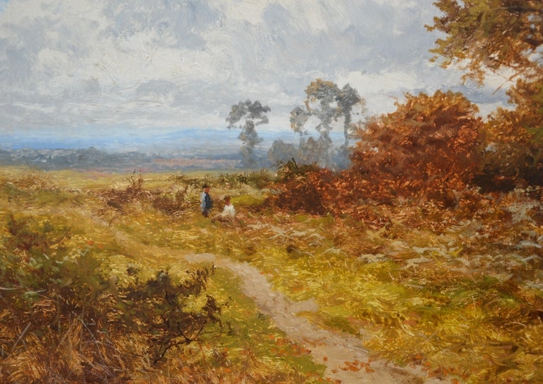 Blean Woods, Kent - 19th Century English Summer Landscape Oil Painting For Sale 1