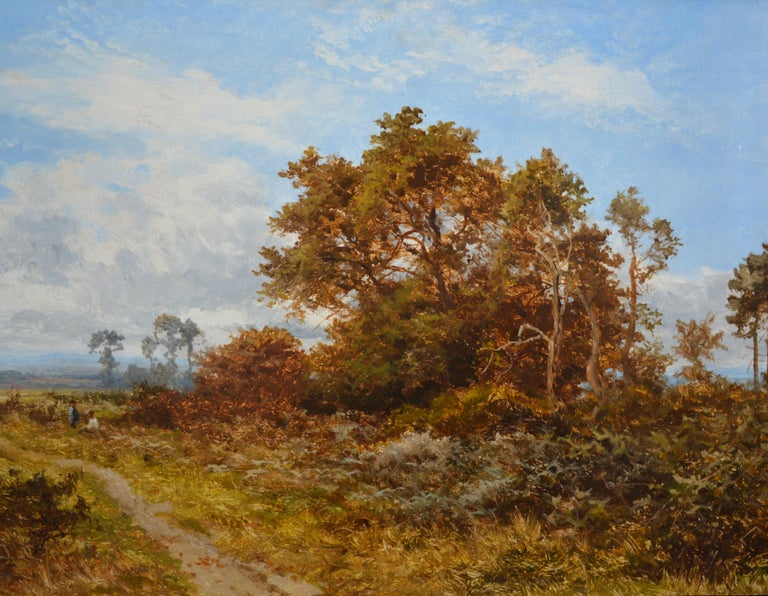 Blean Woods, Kent - 19th Century English Summer Landscape Oil Painting For Sale 2