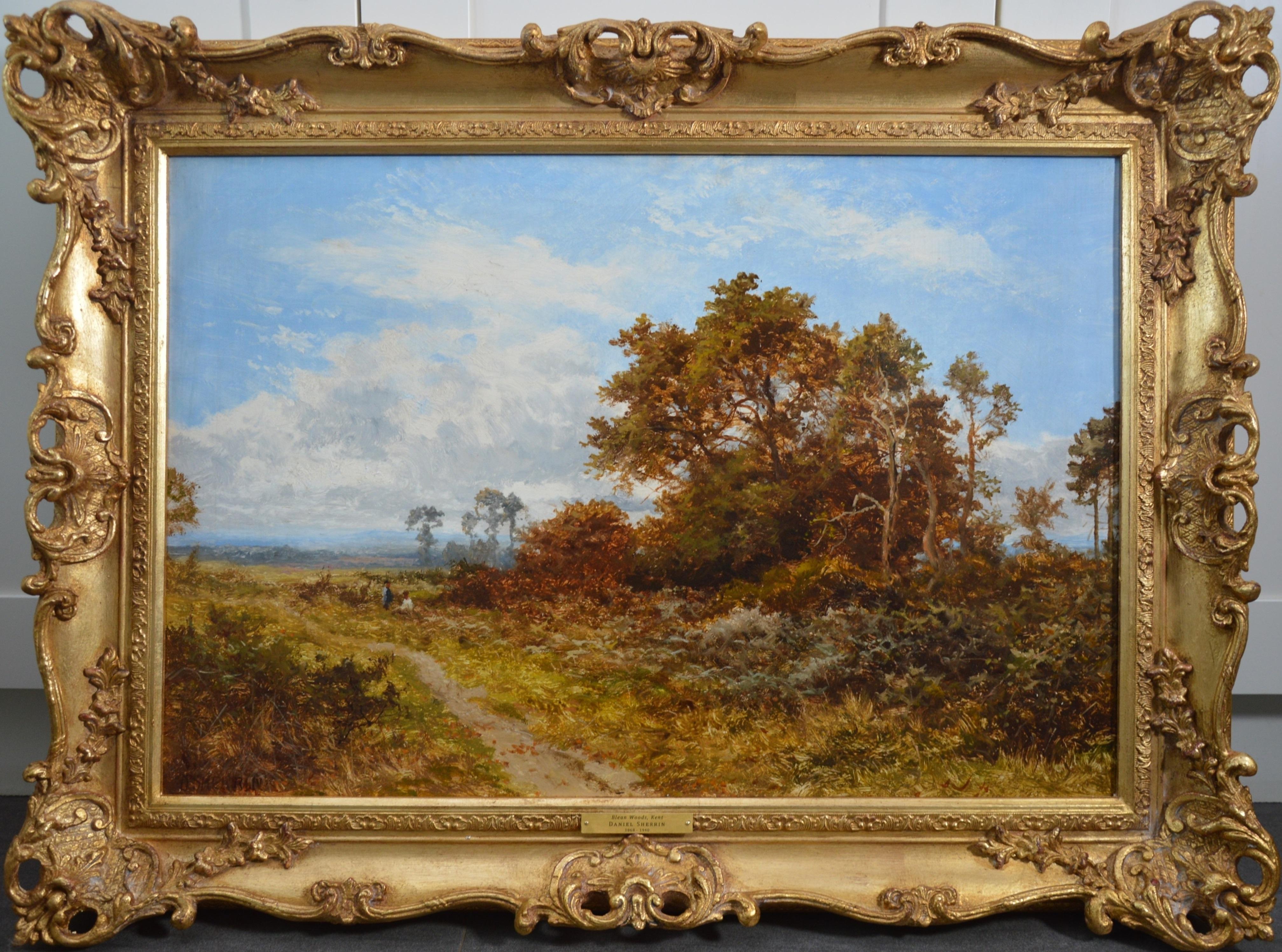 Blean Woods, Kent - 19th Century English Summer Landscape Oil Painting