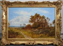 Blean Woods, Kent - 19th Century English Summer Landscape Oil Painting