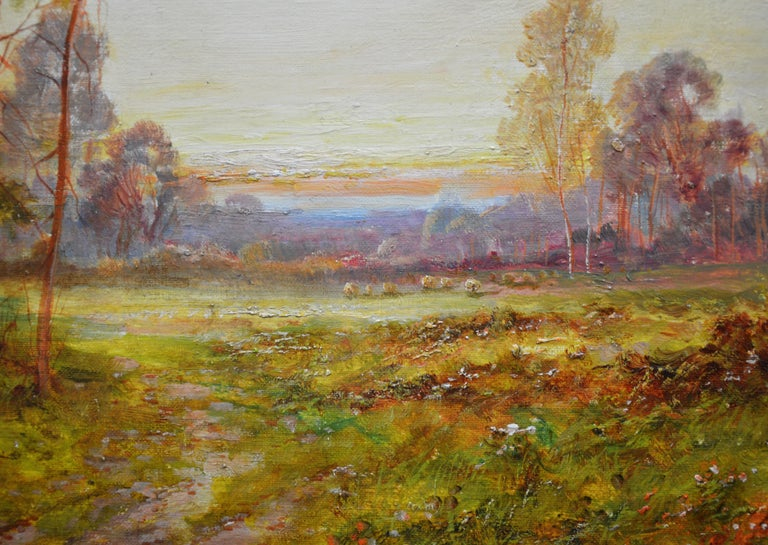 Golden Rays of Autumn - 19th Century Landscape Oil Painting Winnie the Pooh Wood For Sale 1