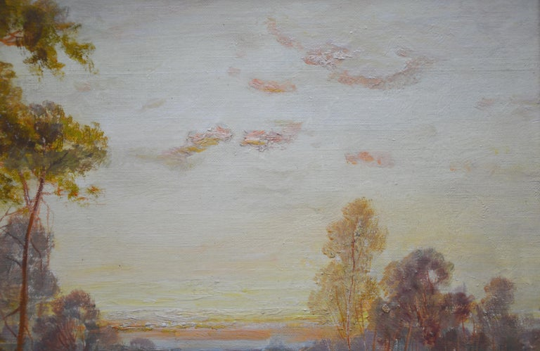 Golden Rays of Autumn - 19th Century Landscape Oil Painting Winnie the Pooh Wood For Sale 3