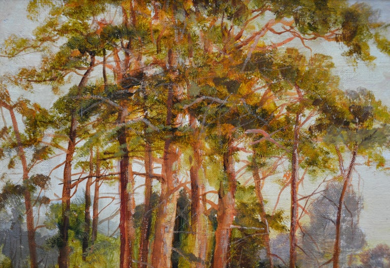 Golden Rays of Autumn - 19th Century Landscape Oil Painting Winnie the Pooh Wood For Sale 4
