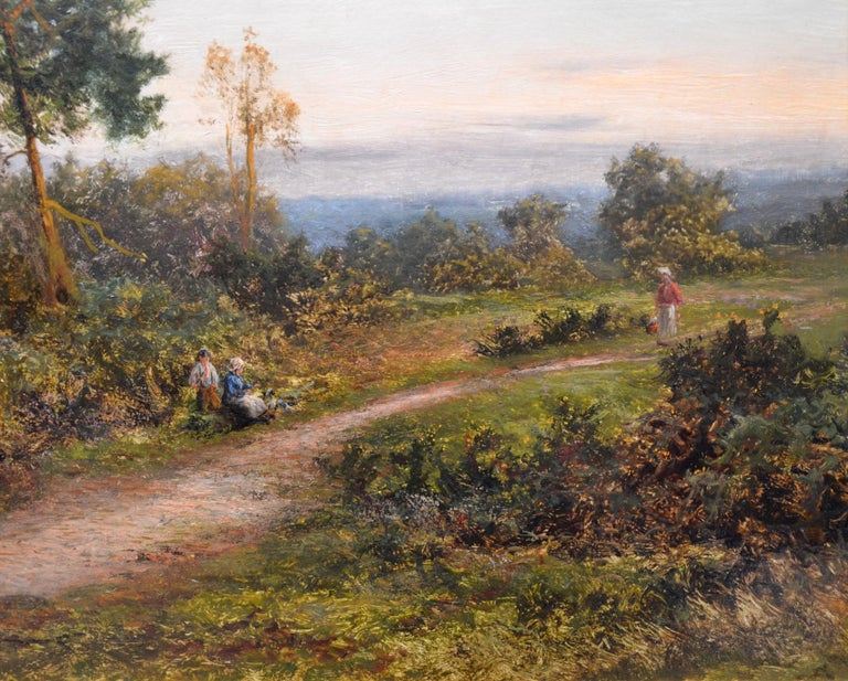 King's Wood, Kent - Large 19th Century English Landscape Oil Painting  For Sale 1