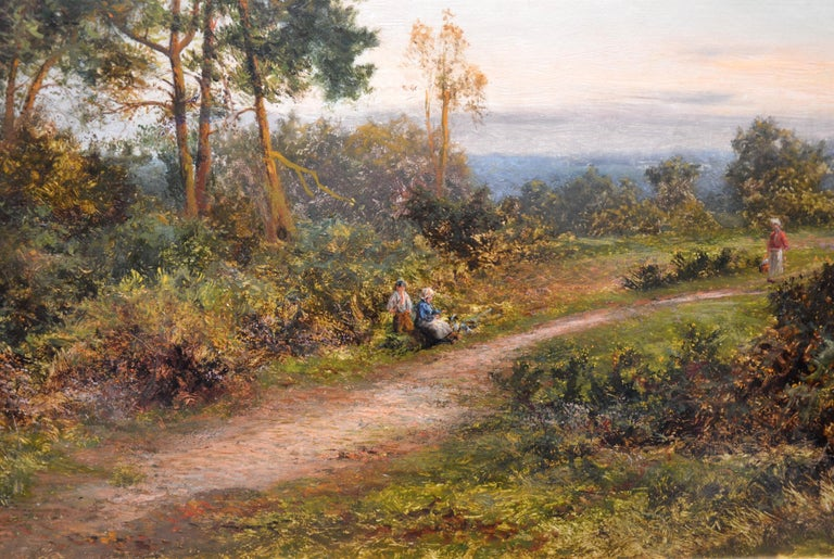 King's Wood, Kent - Large 19th Century English Landscape Oil Painting  For Sale 3