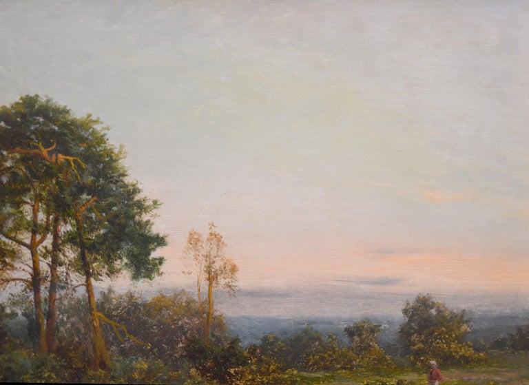 King's Wood, Kent - Large 19th Century English Landscape Oil Painting  For Sale 4