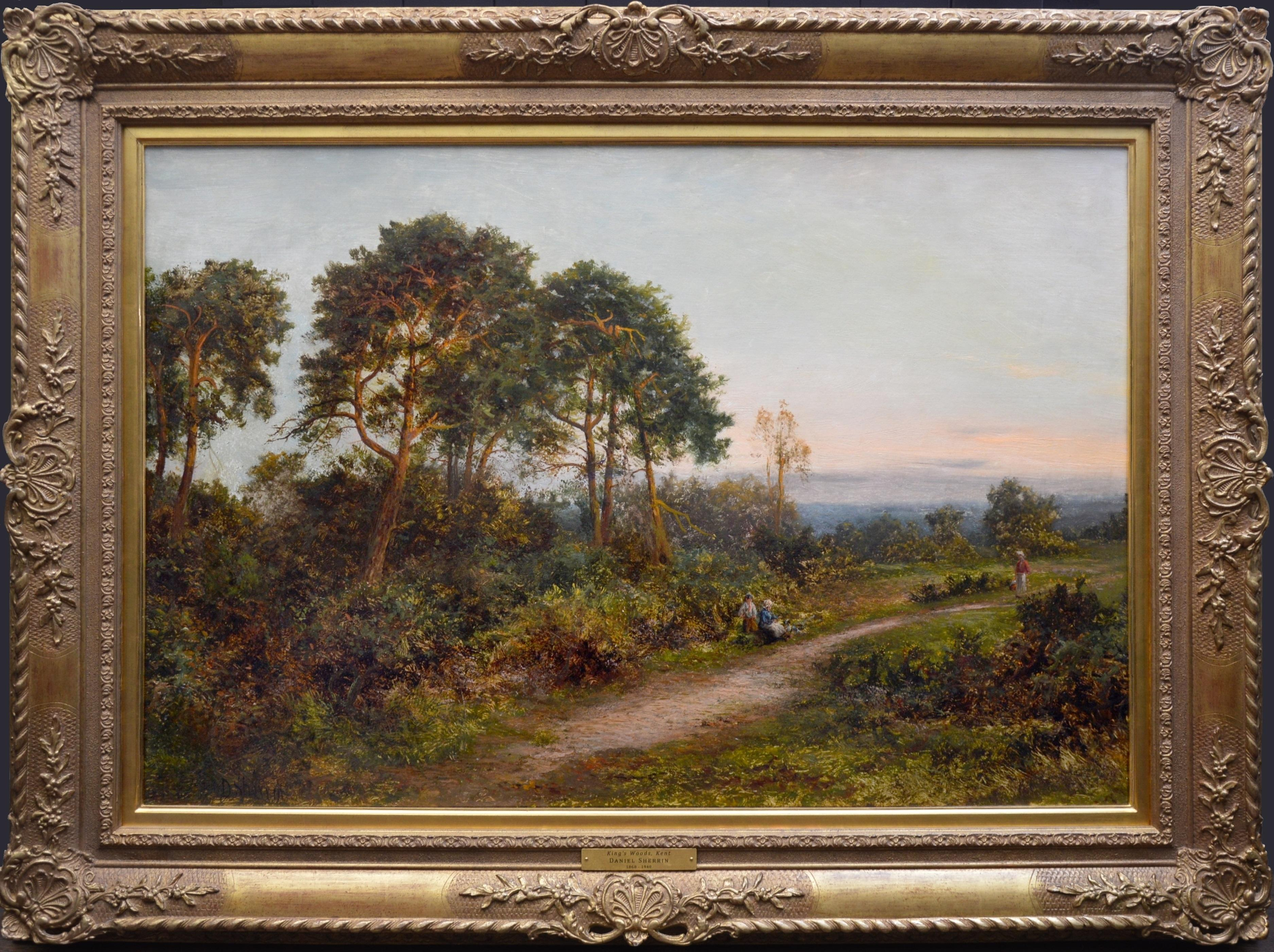 King's Wood, Kent - Large 19th Century English Landscape Oil Painting