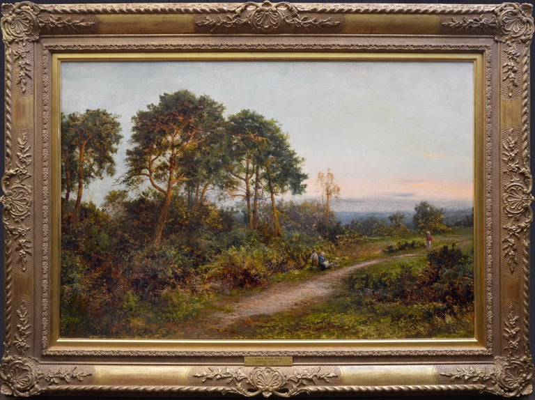 Daniel Sherrin Figurative Painting - King's Wood, Kent - Large 19th Century English Landscape Oil Painting