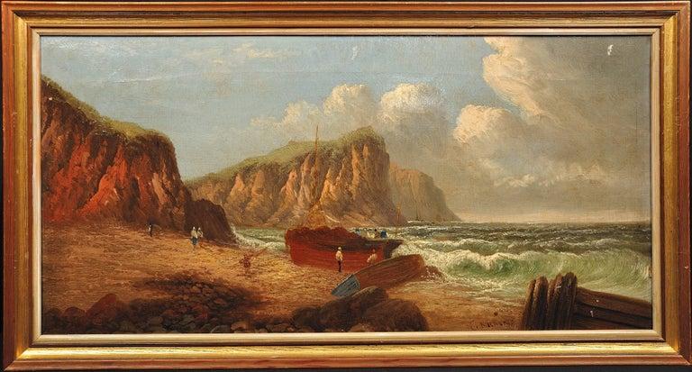 Llŷn Peninsula, Gwynedd, North Wales. Original Painting Daniel Sherrin Pseudonym - Brown Landscape Painting by Daniel Sherrin