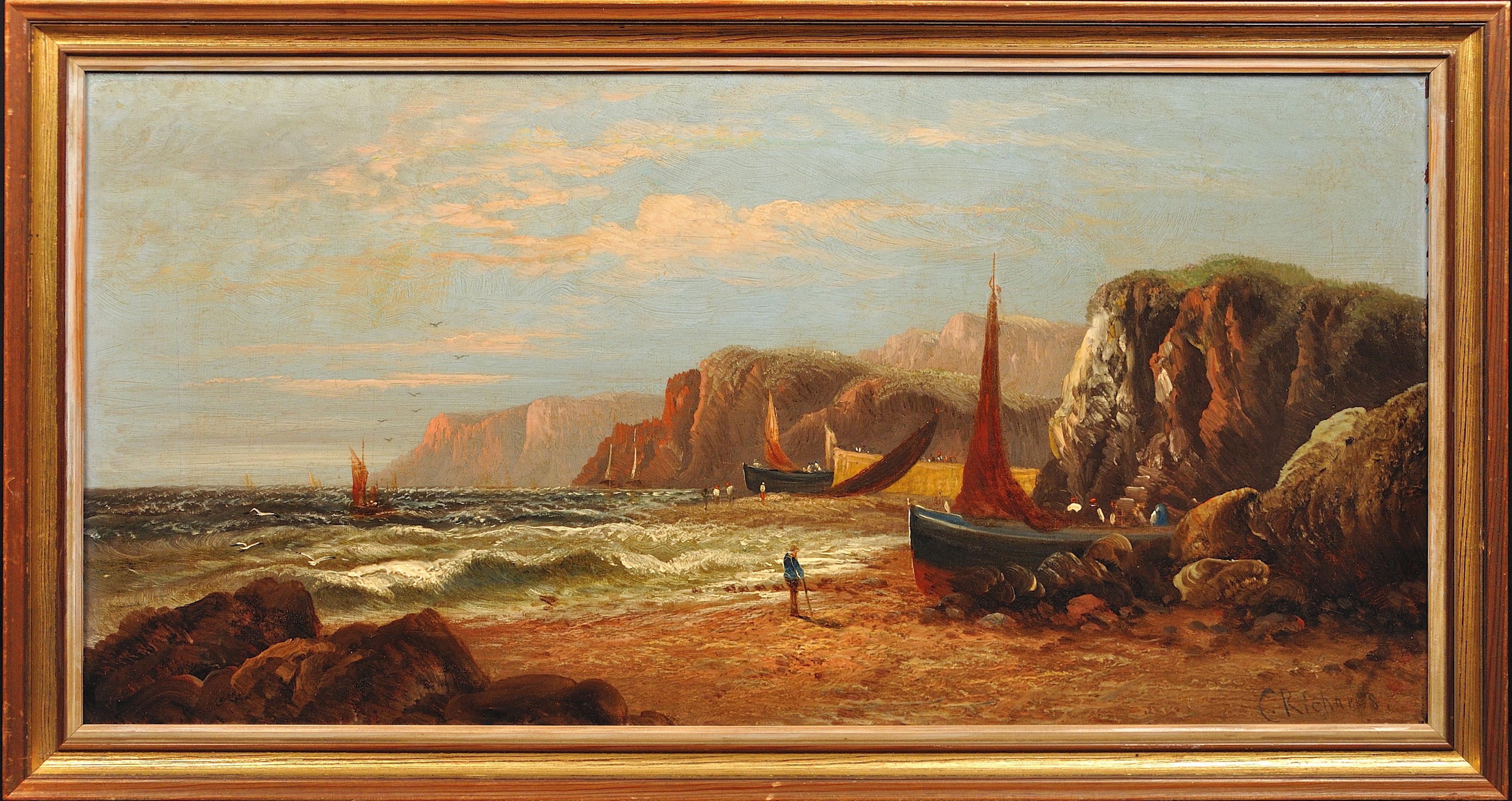 Nefyn, Gwynedd, North Wales. Original Oil Painting Daniel Sherrin Pseudonym