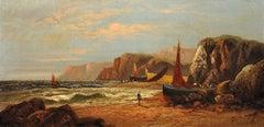 Nefyn, Llŷn Peninsula, Gwynedd. Original Oil Painting Daniel Sherrin Pseudonym