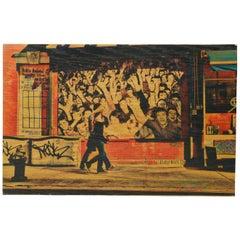 "Daniel Siboni ""Sidewalk"" Street Art, Large Photo on Wood Print"