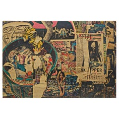 Daniel Siboni Street Art, Large Photo on Wood Print
