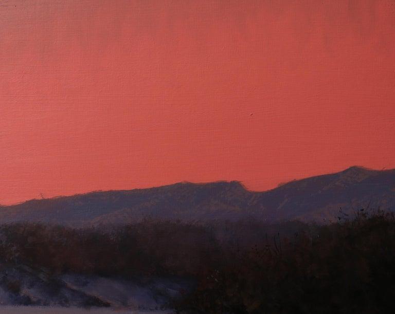 CHATFIELD, Colorado landscape, dusk, red sky, realism, snow scene 1
