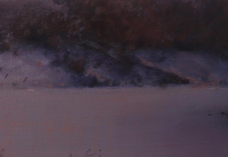 CHATFIELD, Colorado landscape, dusk, red sky, realism, snow scene 3