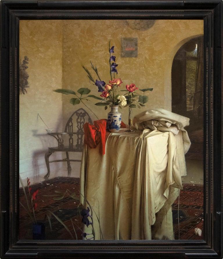 Interior Still Life - Painting by Daniel Sprick