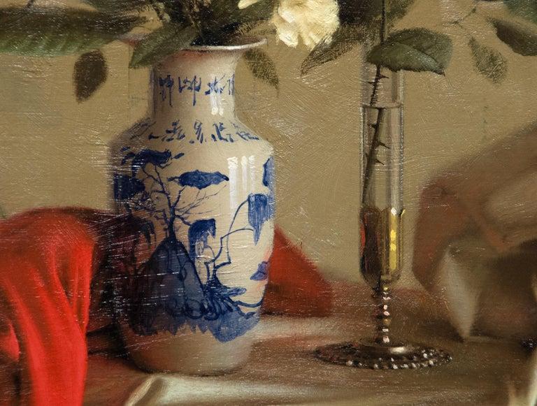 Interior Still Life - American Realist Painting by Daniel Sprick