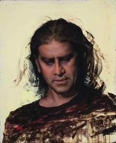 "Daniel Sprick, ""Raj"" realist portrait oil painting"
