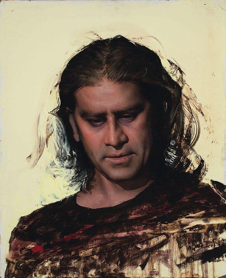 "Daniel Sprick, ""Raj"" realist portrait oil painting  - Painting by Daniel Sprick"
